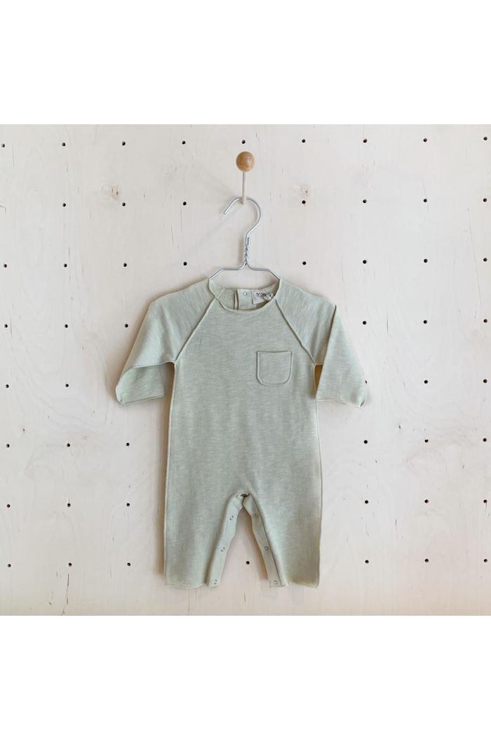 Broer & Zus Babysuit Pocket Off white