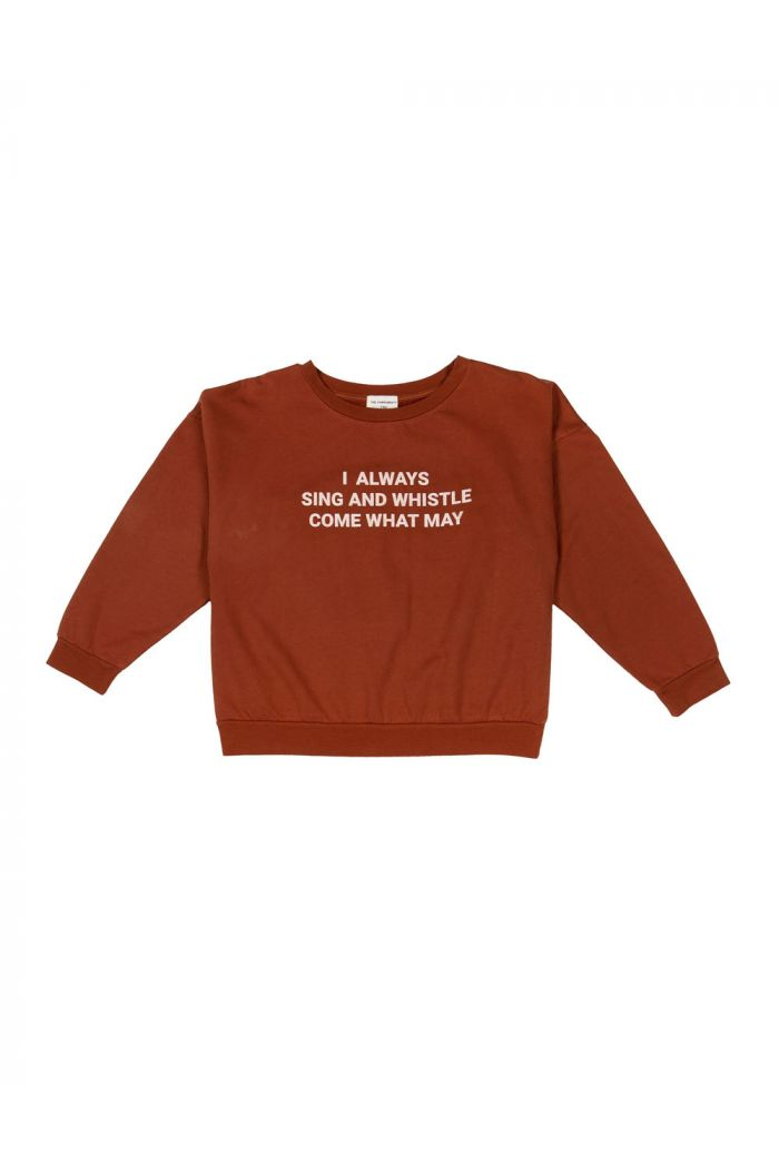 The Campamento Sweatshirt Brown Sing and Whistle