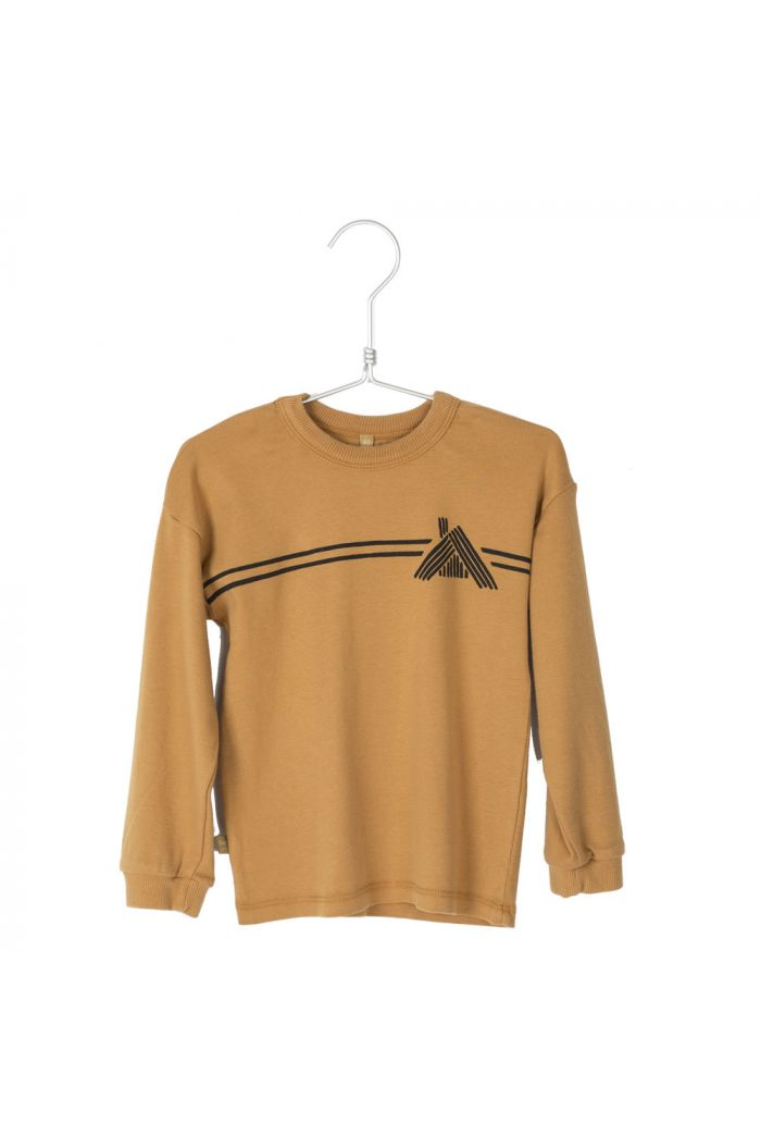 Lotiekids Rib T-shirt Stripes cottage Caramel