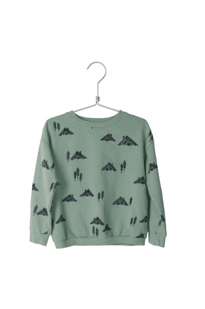 Lotiekids Sweatshirt Cottages Dark Mint