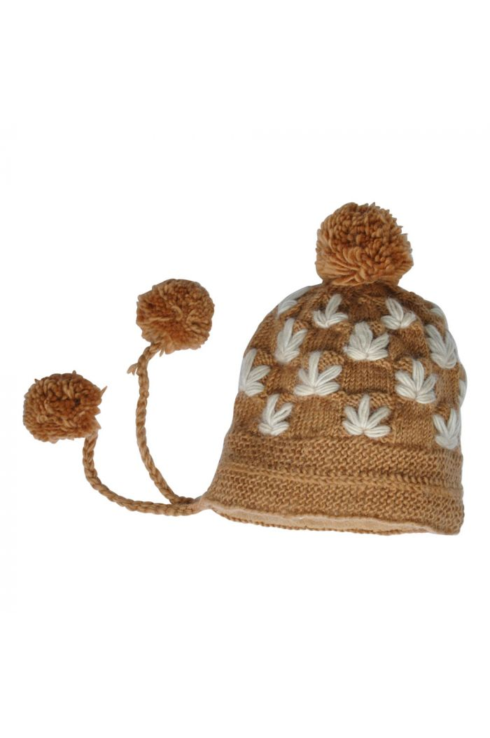 Hats over Heels Leaves Beanie Caramel