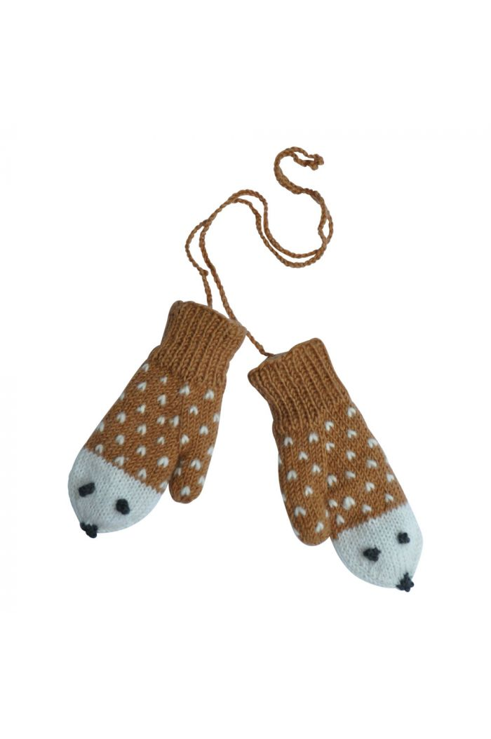 Hats over Heels Hedgehog gloves Caramel