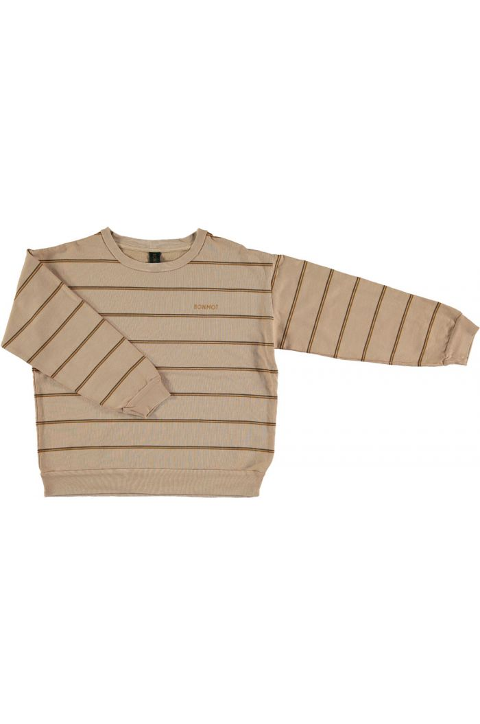 Bonmot Sweatshirt Double Stripe Maple sugar