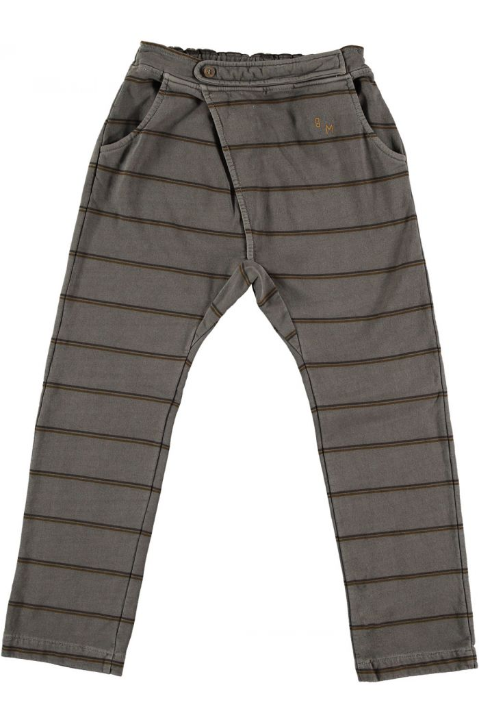 Bonmot Baggy Double Stripe Pants Fungi