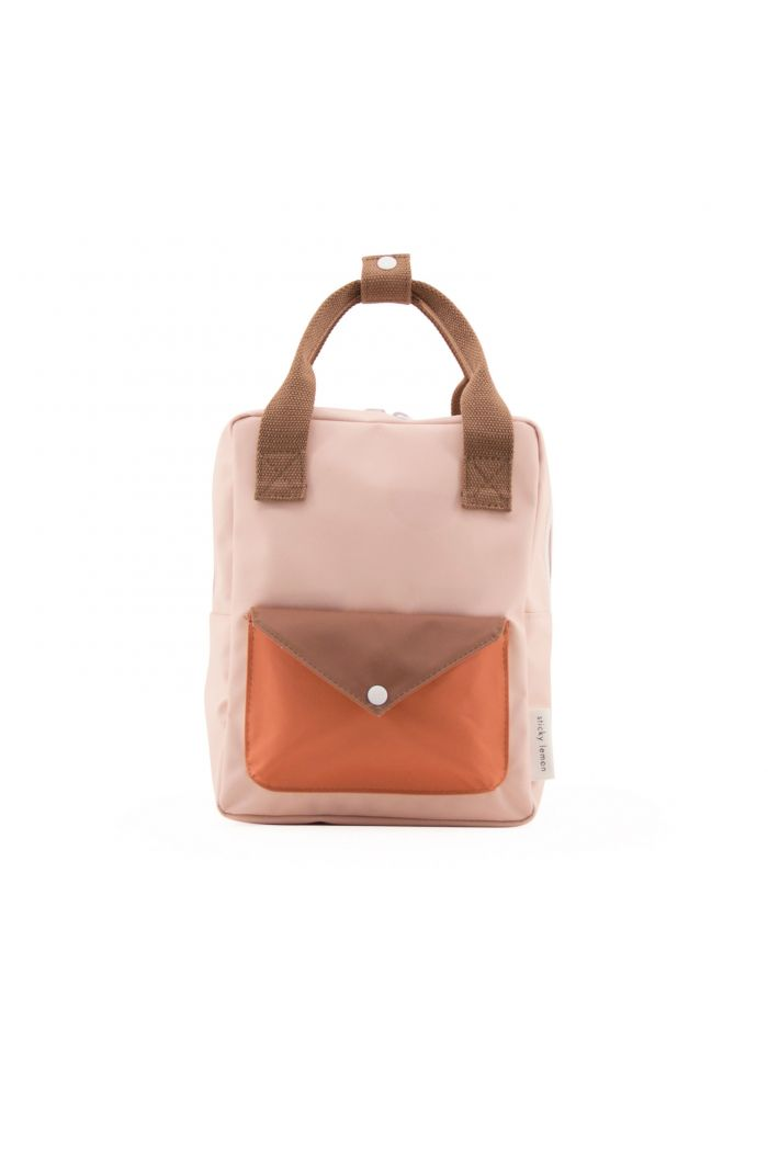Sticky Lemon Small backpack envelope tangarine | peony pink | cider brown