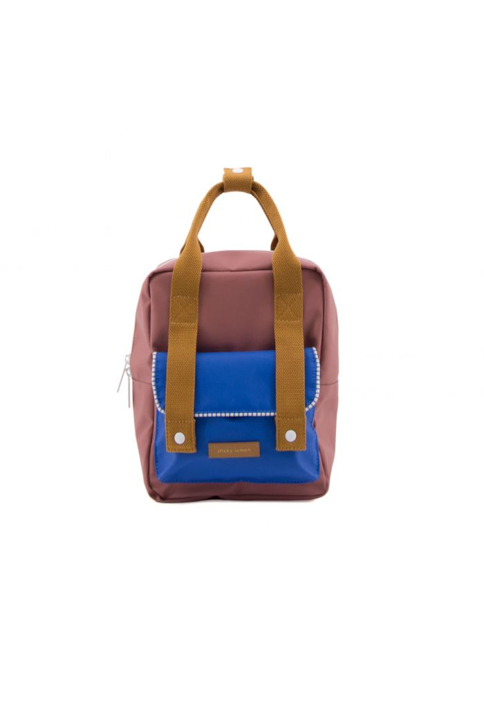 Sticky Lemon Small backpack envelope deluxe hotel brick | ink blue | sugar brown
