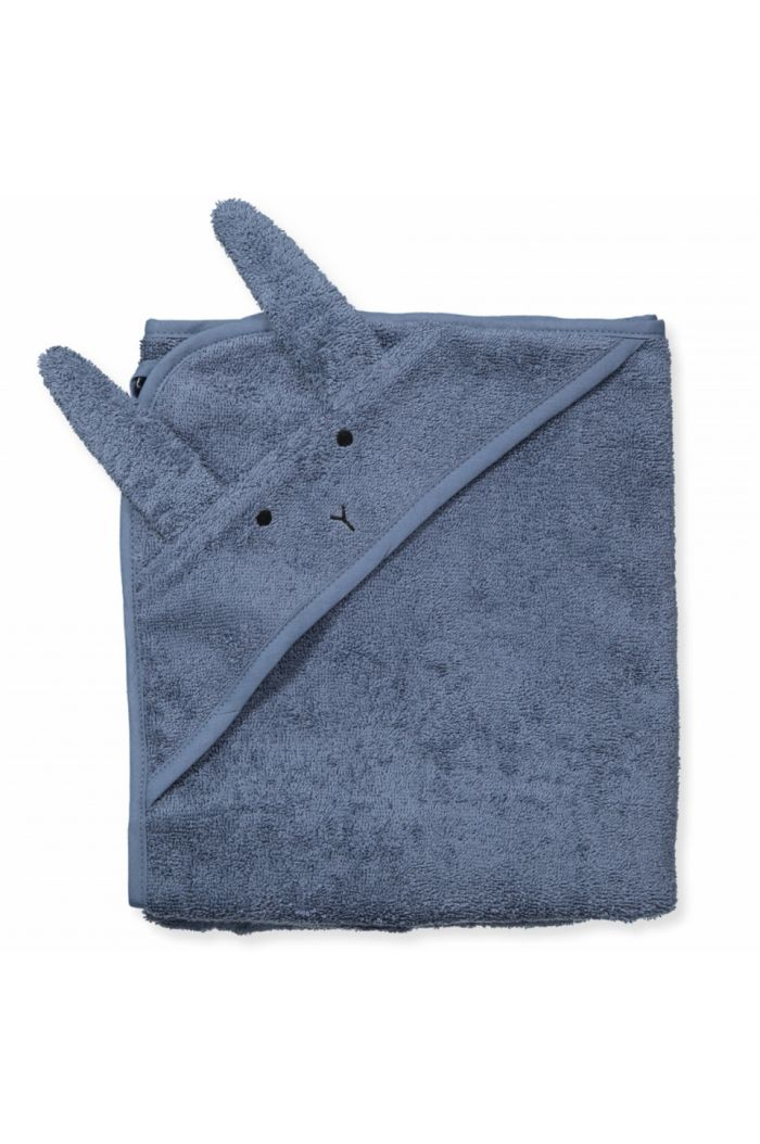 Liewood Albert Hooded Towel Rabbit Blue Wave