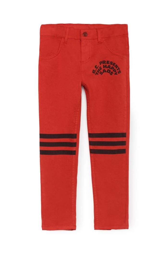 Bobo Choses Red Slim Fit Trousers Red Clay
