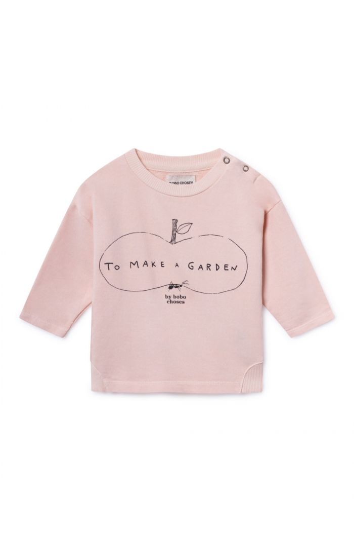 Bobo Choses Ant And Apple Round Neck Sweatshirt