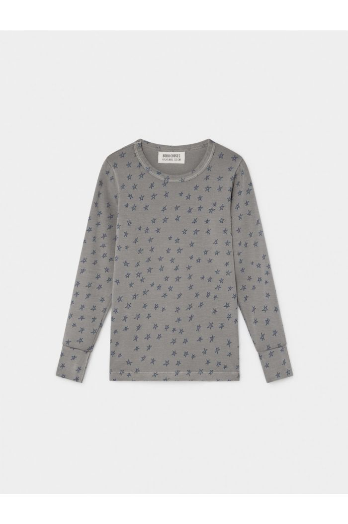 Bobo Choses All Over Stars Long Sleeve T-Shirt Drizzle