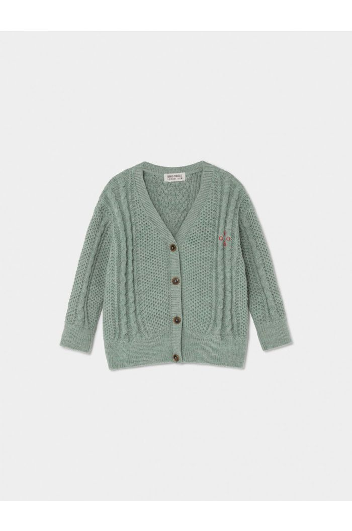Bobo Choses Bobo Cardigan Iceberg Green