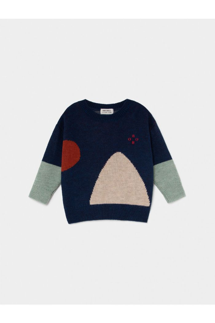 Bobo Choses Bobo Jacquard Jumper Estate Blue