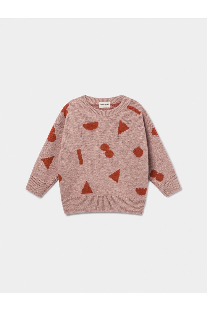 Bobo Choses Stuff Jacquard Jumper Mellow Rose