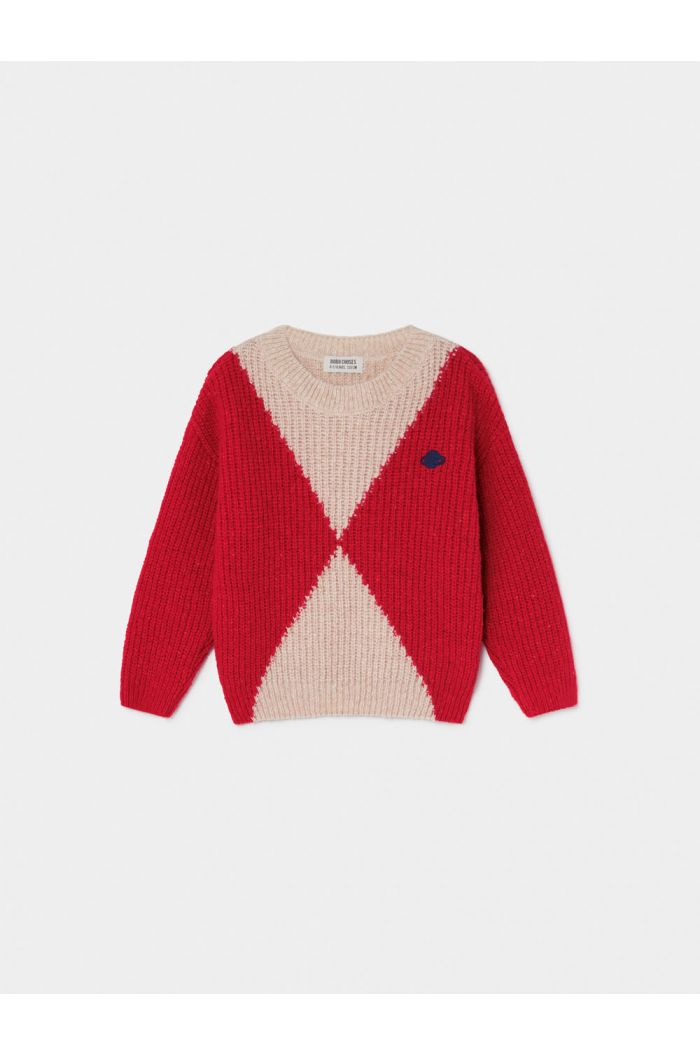 Bobo Choses Geometric Saturn Jumper Flamé Scarlet