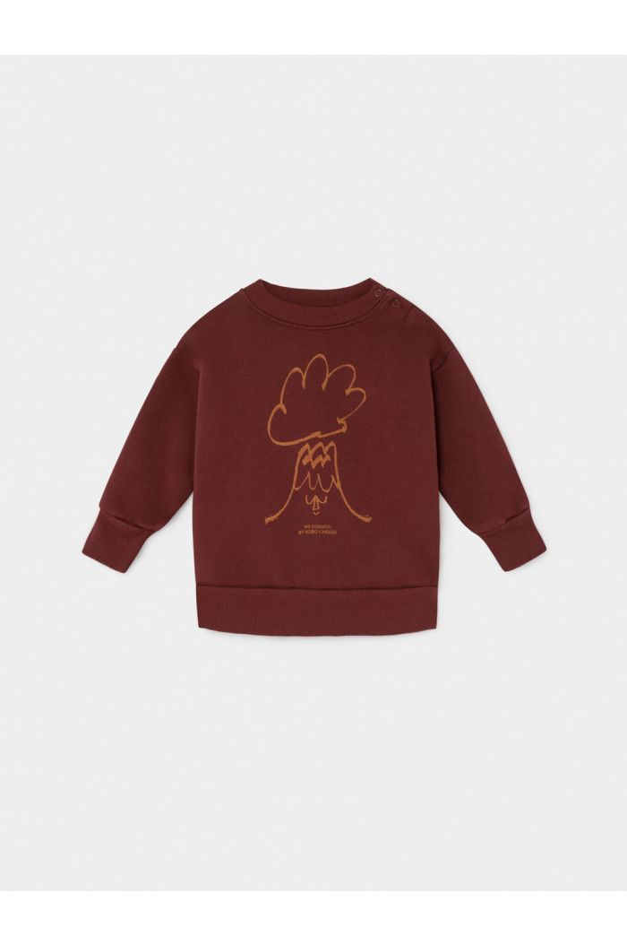 Bobo Choses Volcano Sweatshirt Sun Dried Tomato