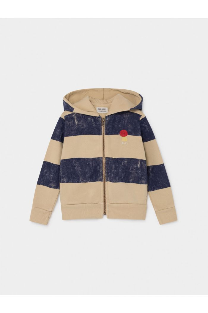 Bobo Choses Striped Mercury Hooded Sweatshirt Pebble