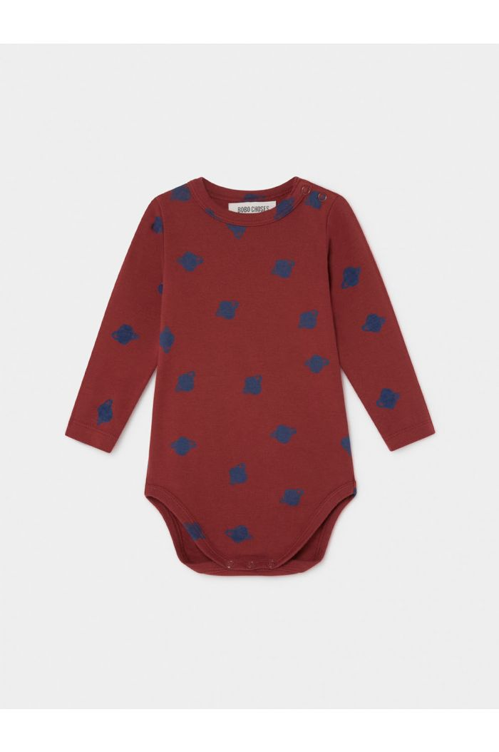 Bobo Choses All Over Small Saturn Long Sleeve Body Sun Dried Tomato