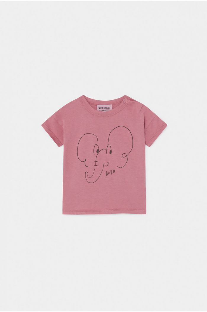 Bobo Choses Elephant T-Shirt Baby Heather Rose
