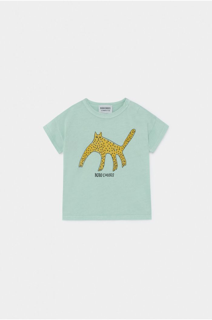 Bobo Choses Leopard T-Shirt Baby Frosty Green