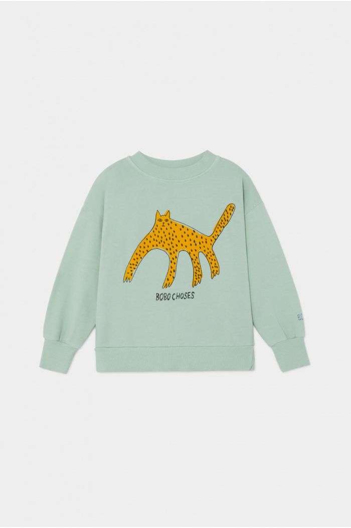 Bobo Choses Leopard Sweatshirt Frosty Green