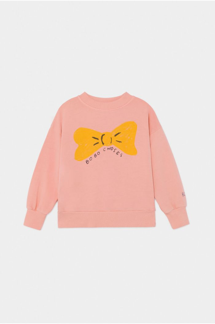 Bobo Choses Bow Sweatshirt Blooming Dahlia