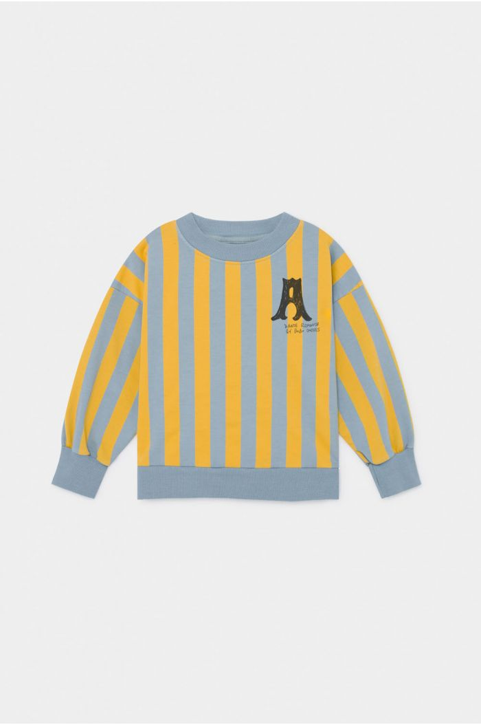 Bobo Choses A Dance Romance Striped Sweatshirt Blue Fog