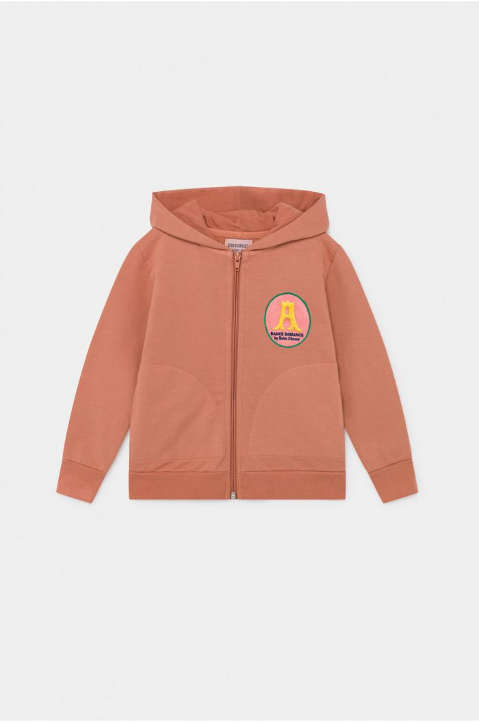 Bobo Choses Sunrise Zipped Hoodie Autumn Leaf