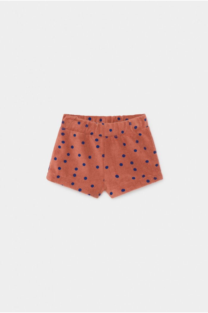 Bobo Choses Dots Terry Towel Shorts Baby Autumn Leaf
