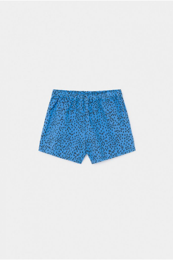 Bobo Choses All Over Leopard Shorts Azure Blue