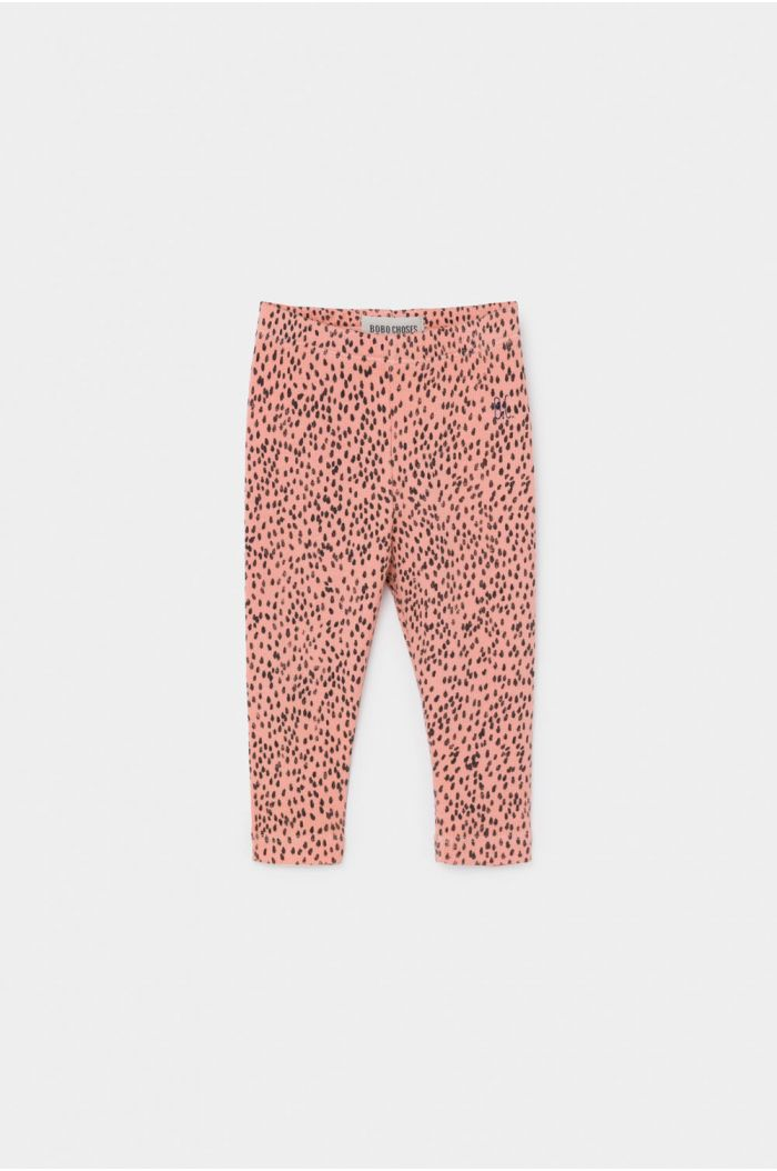 Bobo Choses All Over Leopard Pink Leggings Blooming Dahlia