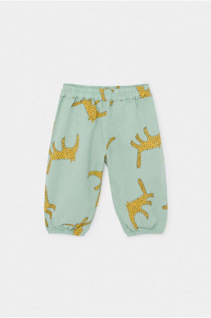 Bobo Choses Leopards Baggy Trousers Frosty Green