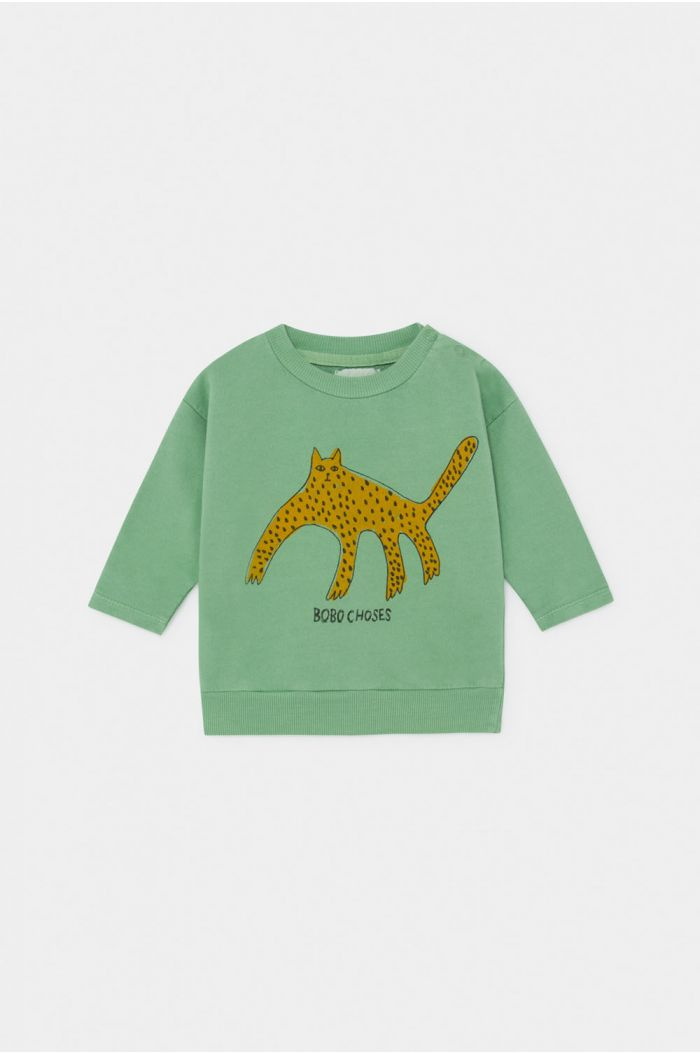 Bobo Choses Leopard Sweatshirt Baby Aspen Green