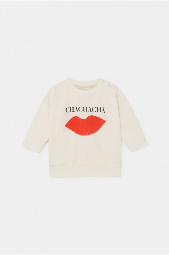 Bobo Choses Chachacha Kiss Sweatshirt Baby Turtledove