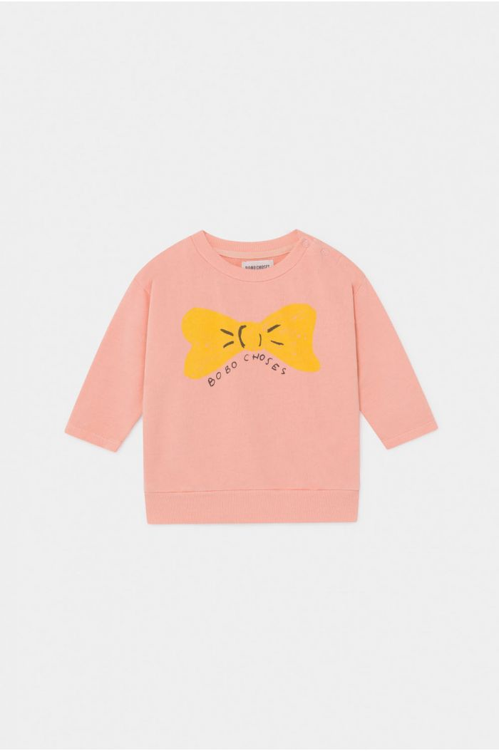 Bobo Choses Bow Sweatshirt Baby Blooming Dahlia
