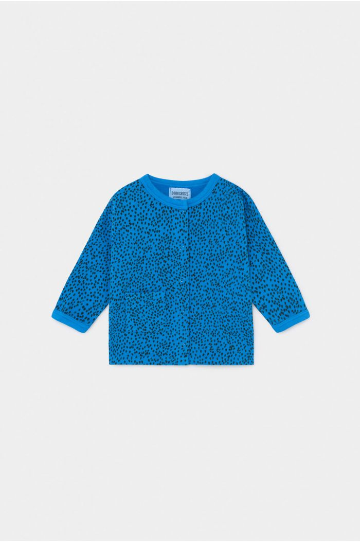 Bobo Choses All Over Leopard Buttoned Sweatshirt Azure Blue