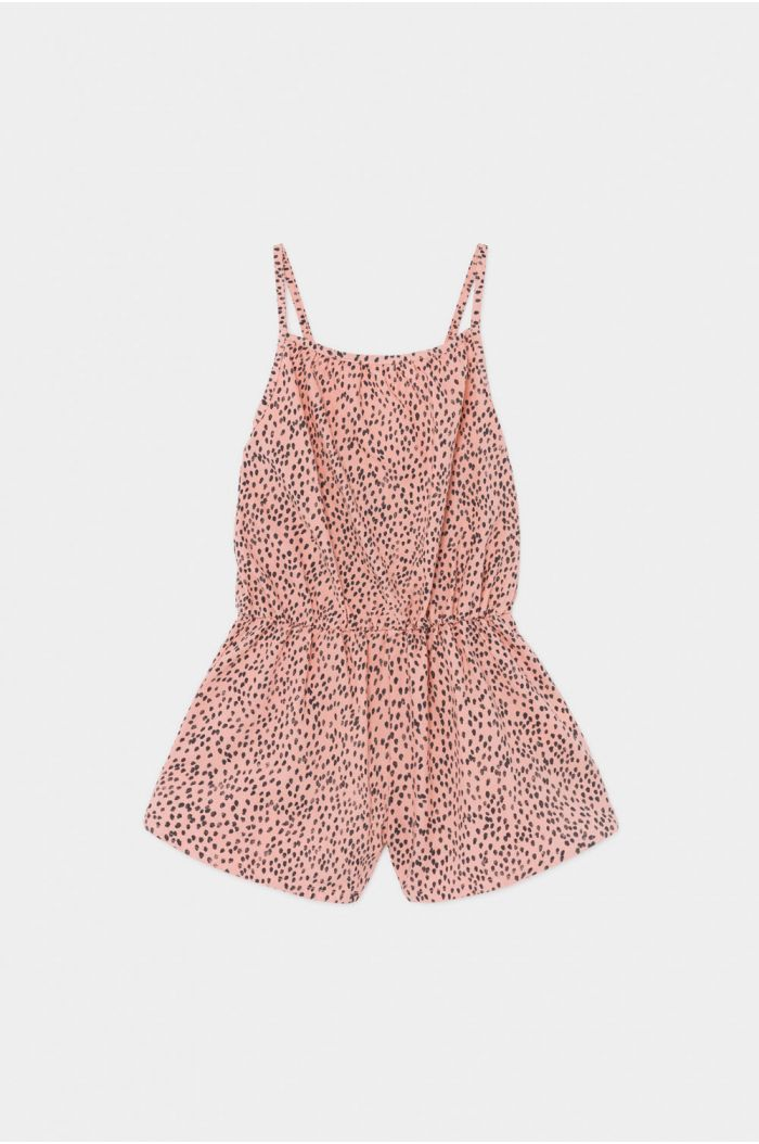 Bobo Choses All Over Leopard Woven Playsuit Blooming Dahlia