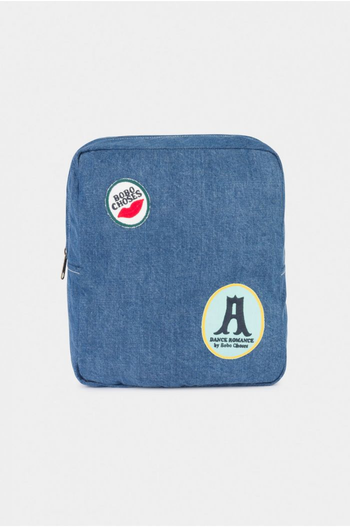 Bobo Choses Patches School Bag Azure Blue