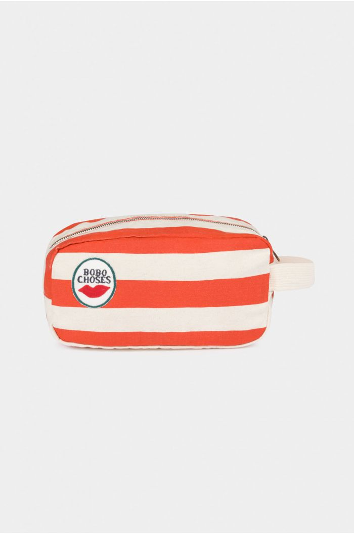 Bobo Choses Red Stripes Pouch Turtledove