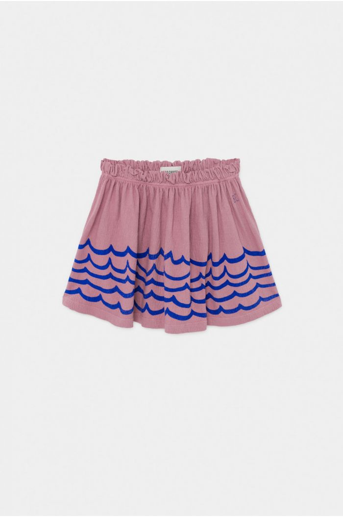 Bobo Choses Waves Jersey Skirt Heather Rose
