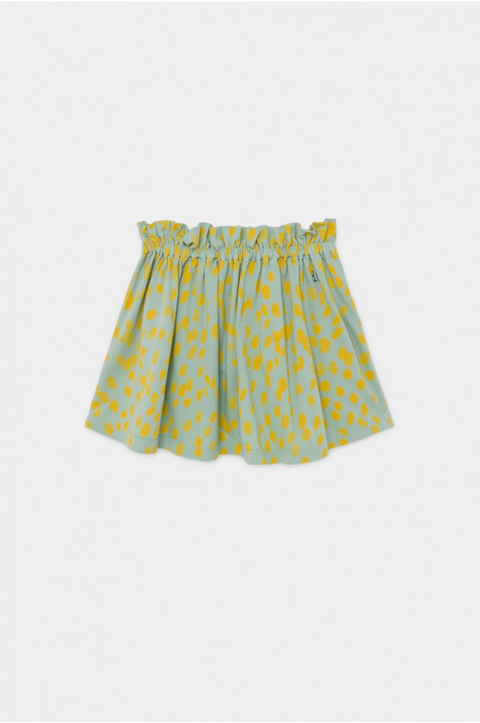 Bobo Choses Animal Print Jersey Skirt Frosty Green