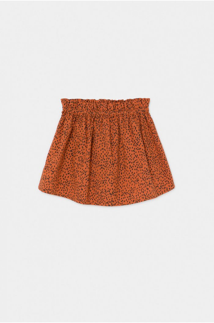 Bobo Choses All Over Leopard Flared Skirt Celosia Orange