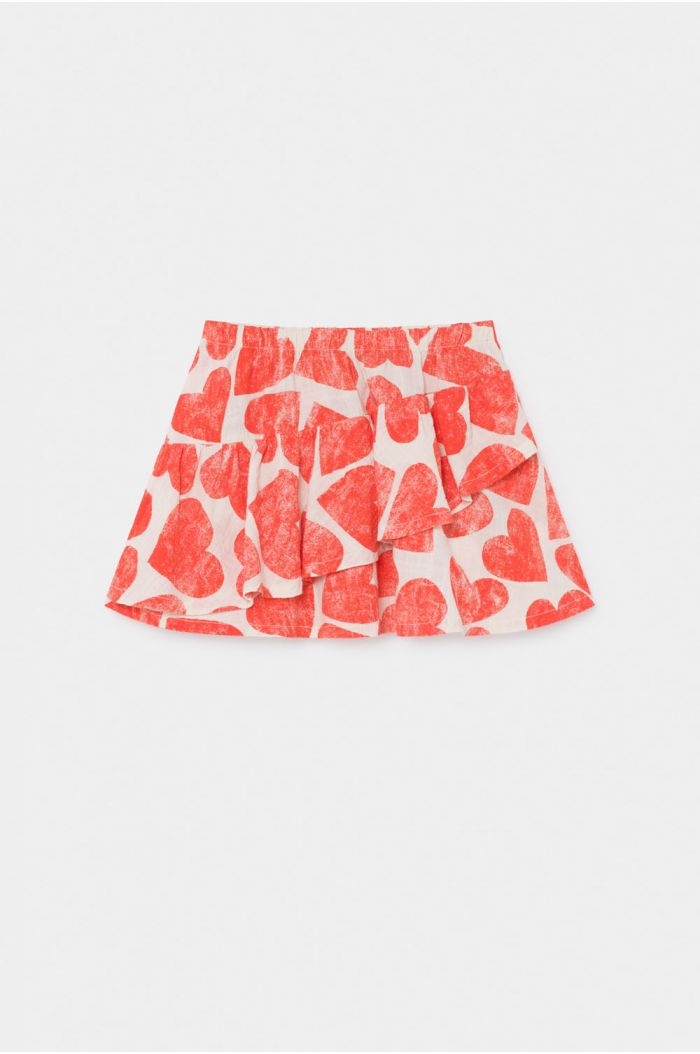 Bobo Choses All Over  Hearts Ruffles Skirt Turtledove