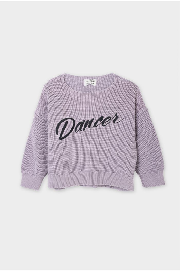 Bobo Choses Dancer Knitted Jumper Heather Rose