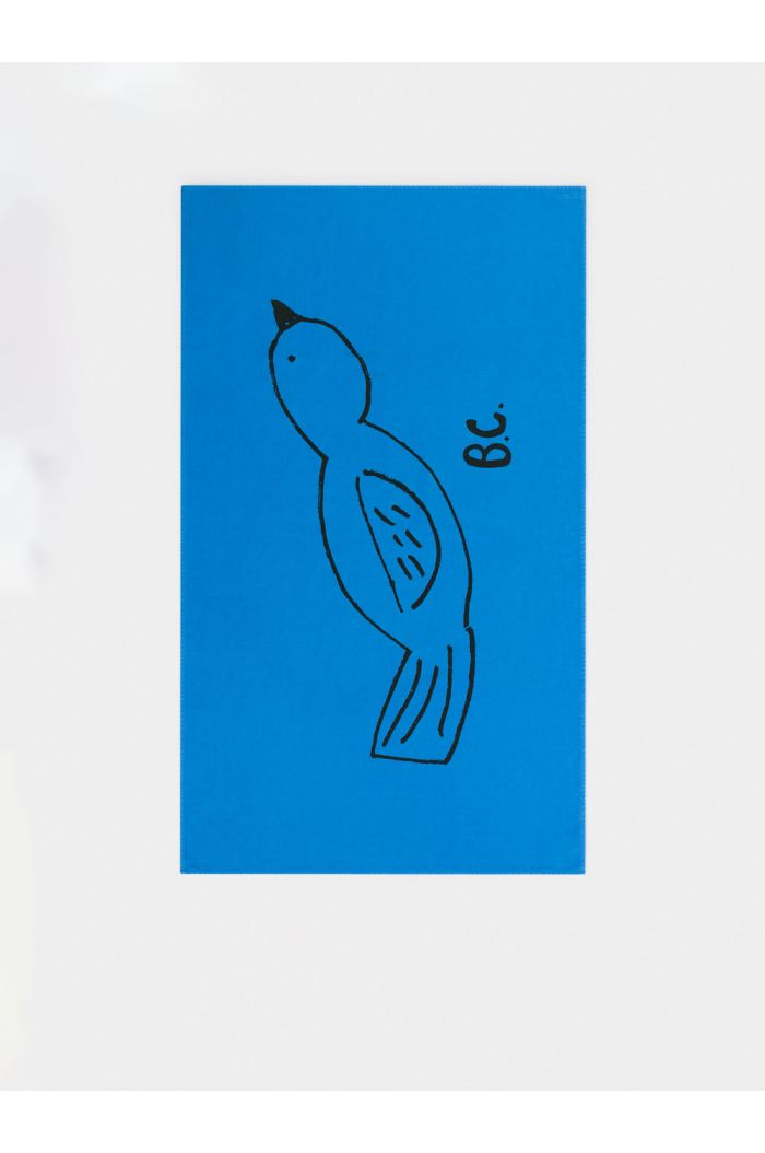 Bobo Choses Bird Beach Towel Azure Blue