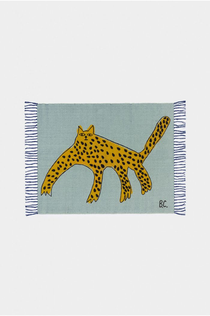 Bobo Choses Leopard Rug Frosty Green