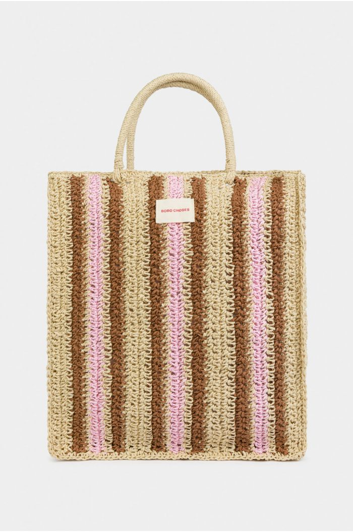 Bobo Choses Striped Tote Bag Blooming Dahlia