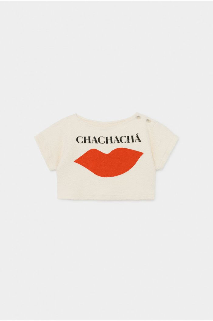 Bobo Choses Chachacha Kiss Cropped Sweatshirt Turtledove