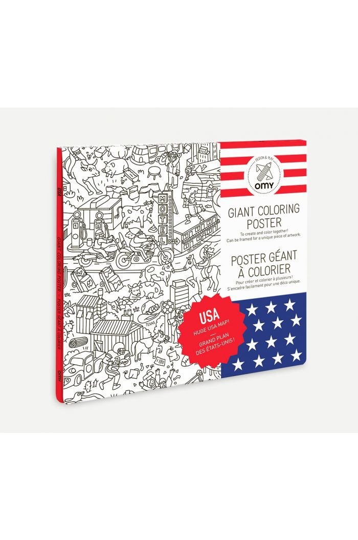 OMY Giant Coloring Poster USA
