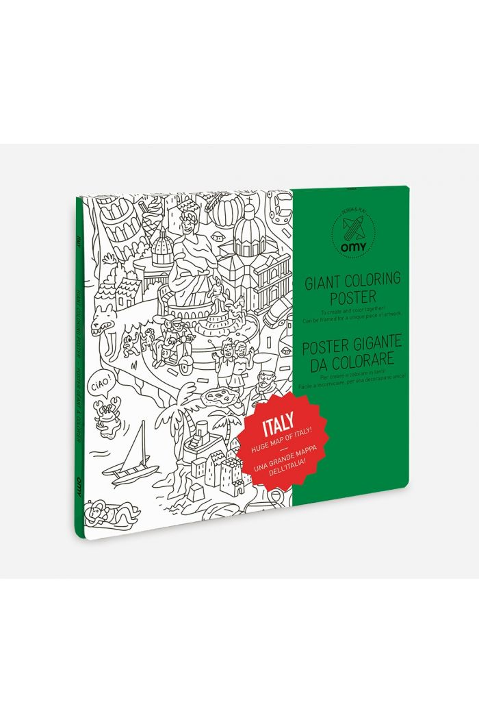 OMY Giant Coloring Poster Italy