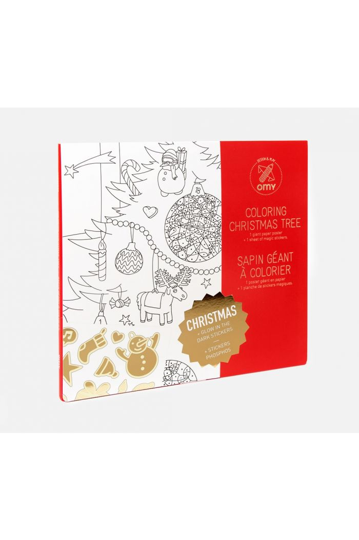 OMY Giant Coloring Poster Christmas Tree